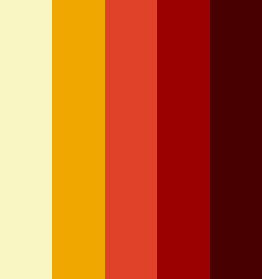 1970s Color Palette I created a color palette for